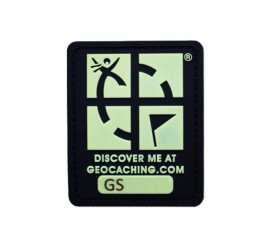 Geocaching Logo Glow In The Dark Trackable Patch