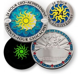 24 Hour - 24 Caches Geo-Achievement® Award Set