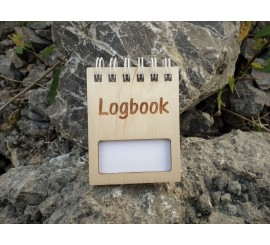 Wooden logbook 55 x 75 mm