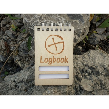 Wooden logbook 75 x 120 mm