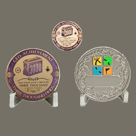 3000 Finds Geo-Achievement® Award Coin Set.