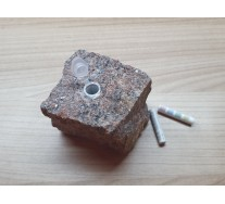 Geocache Stone - Granite Red